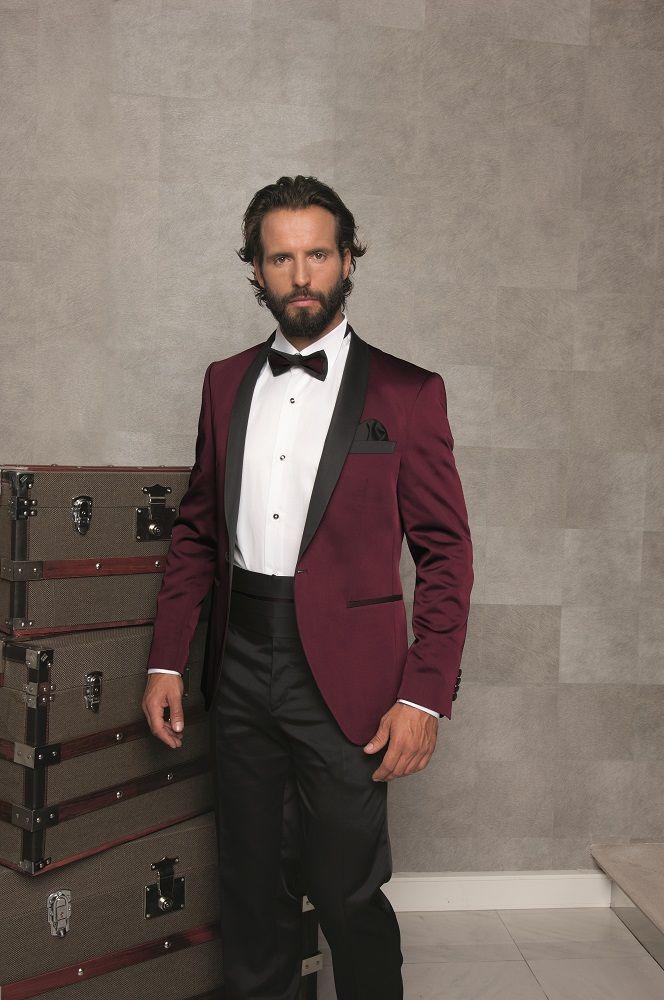 Latest Coat Pant Designs Burgundy Shawl Lapel Italian Men Suit Slim ...