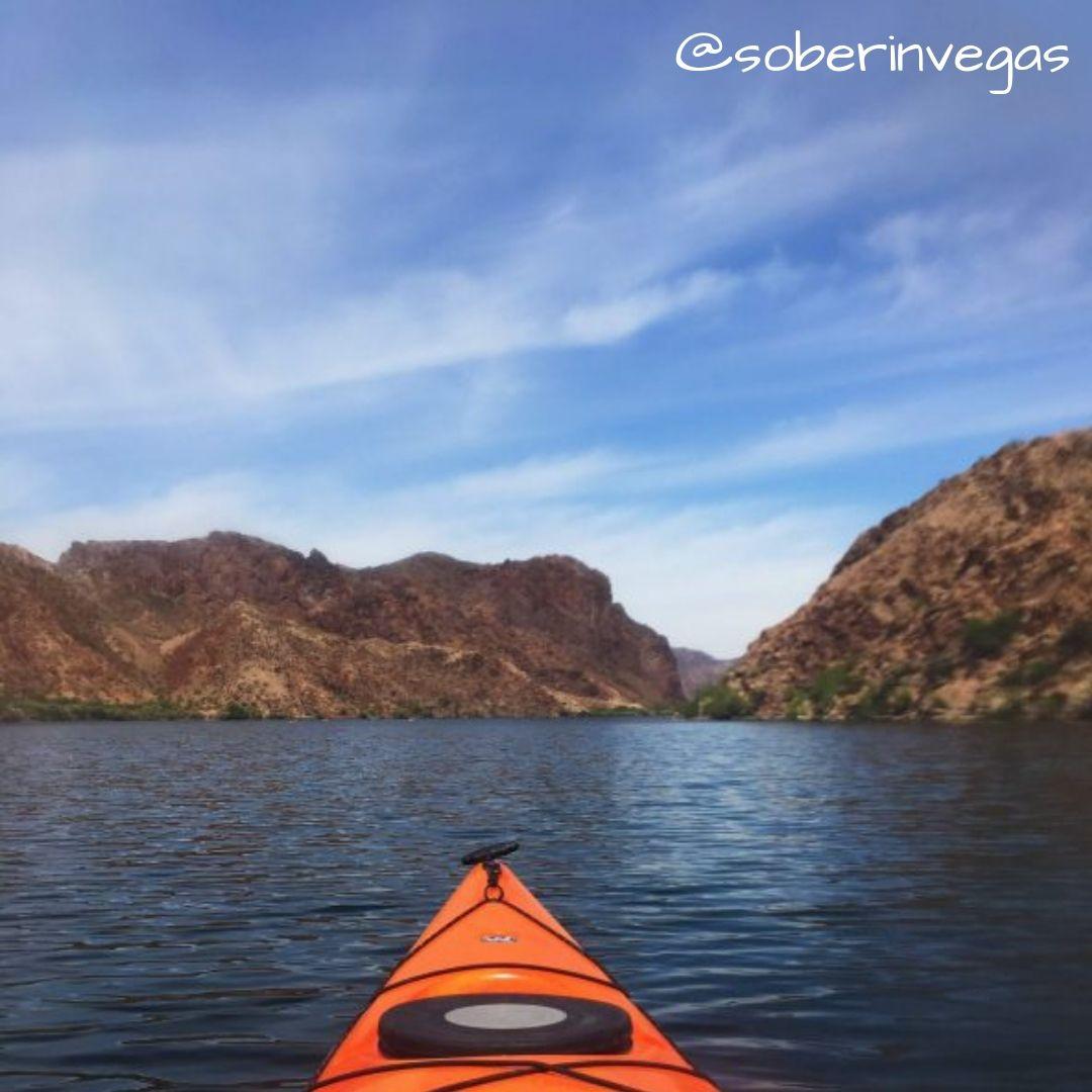 Kayaking with blazin paddles at lake mead kayaking las