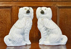 I always have and always will want these antique china dogs on either side of my living room fireplace and name them Gog and Magog because of Anne of Green Gables.