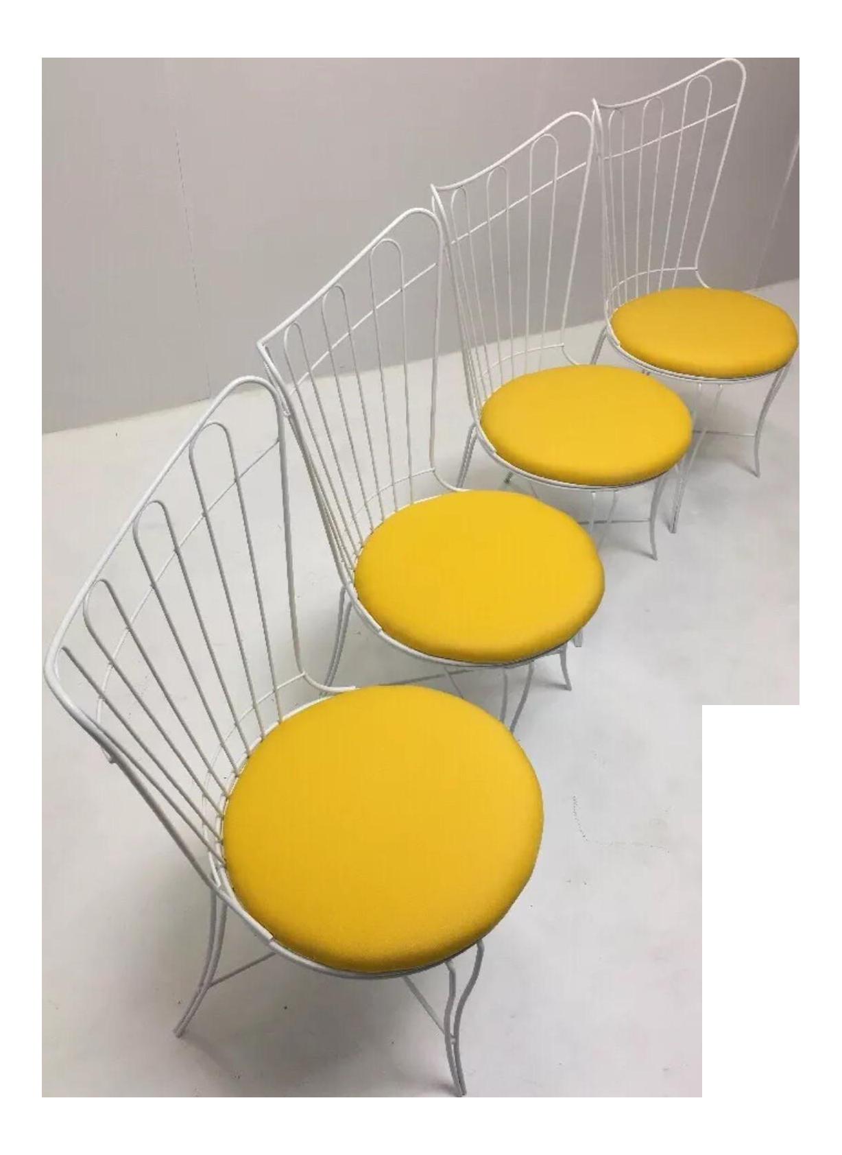 Retro Vintage Homecrest Patio Dining Chairs   Set Of 4 On Chairish.com