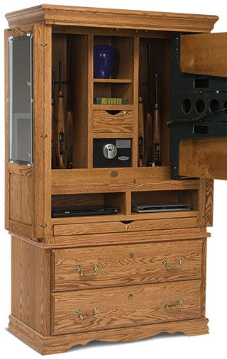 Flat screen tv armoire gun cabinet secret gun compartment in tv cabinet stashvault gun for Bedroom armoire with tv storage