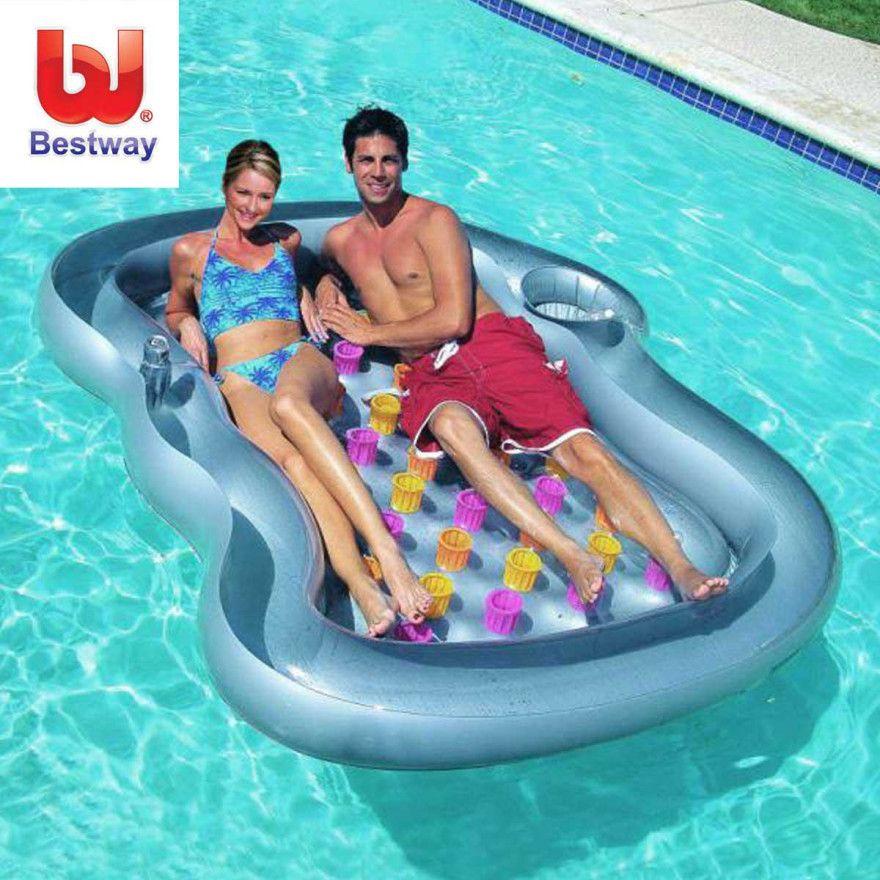 Dealsdirect Bestway Double Designer Pool Lounge Pool Lounger Pool Pool Lounge