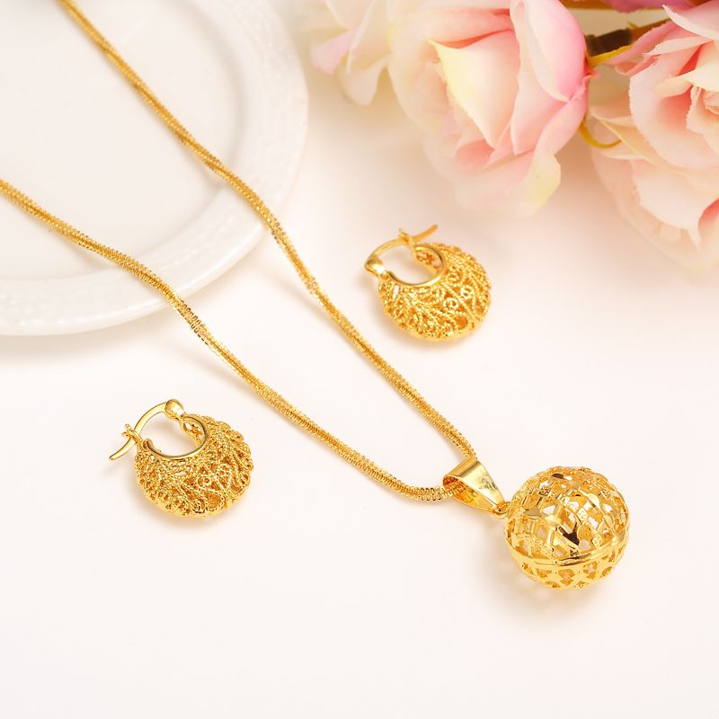 new cute Gold girls bridal jewelry set for Women Necklace Ethiopia ...