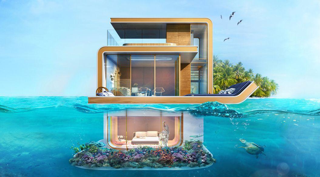 世界一高いビルの次は 海に浮かぶ家 ドバイの建築が想像の斜め上