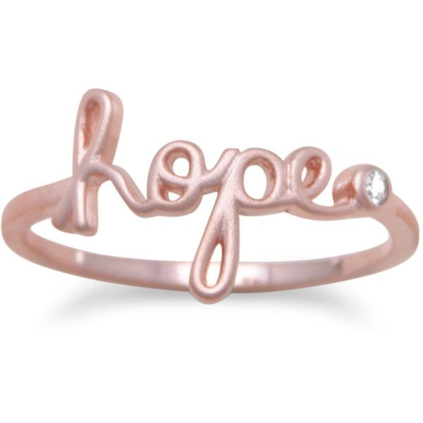 Ring of Hope (20 AUD) ❤ liked on Polyvore featuring jewelry, rings, band rings, 14k jewelry, round ring, 14k ring and 14 karat gold jewelry
