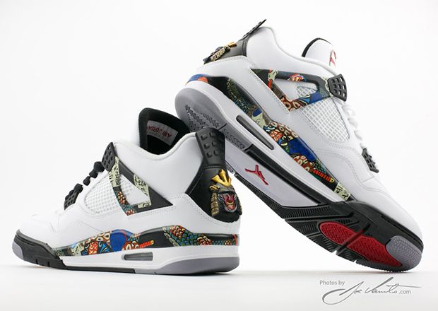 Air Jordan IV 4 Samourai Custom by El Cappy - www.Sneak-Art.