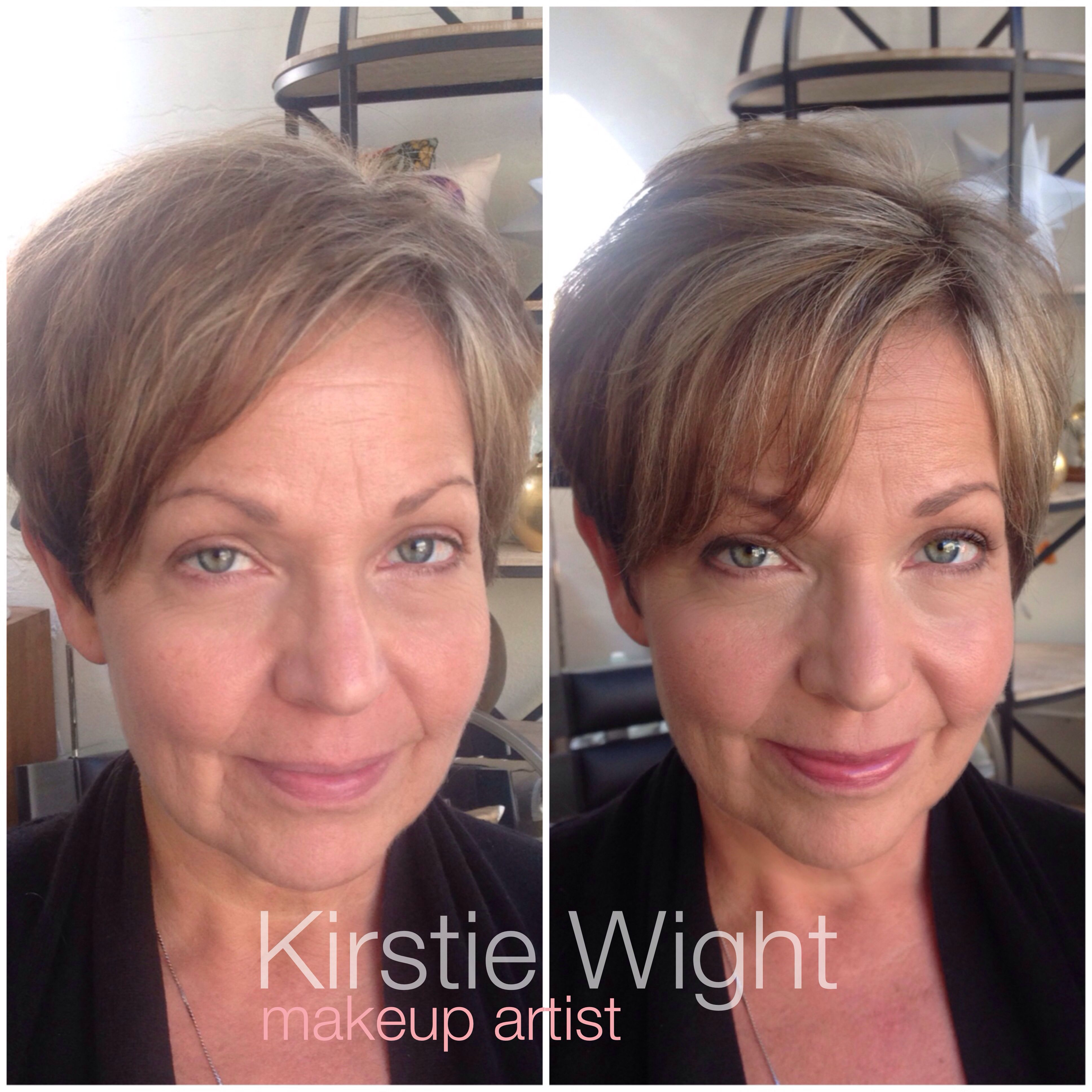 Kirstie Wight Makeup Artist Makeup Lesson Before/After