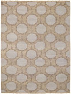 A necklace found in a vintage shop in Atlanta inspired this interlocking pattern from @Hable Construction . Our Laurel rug utilizes a fun combination of organic shapes and geometry. #CapelRugs #HableConstruction