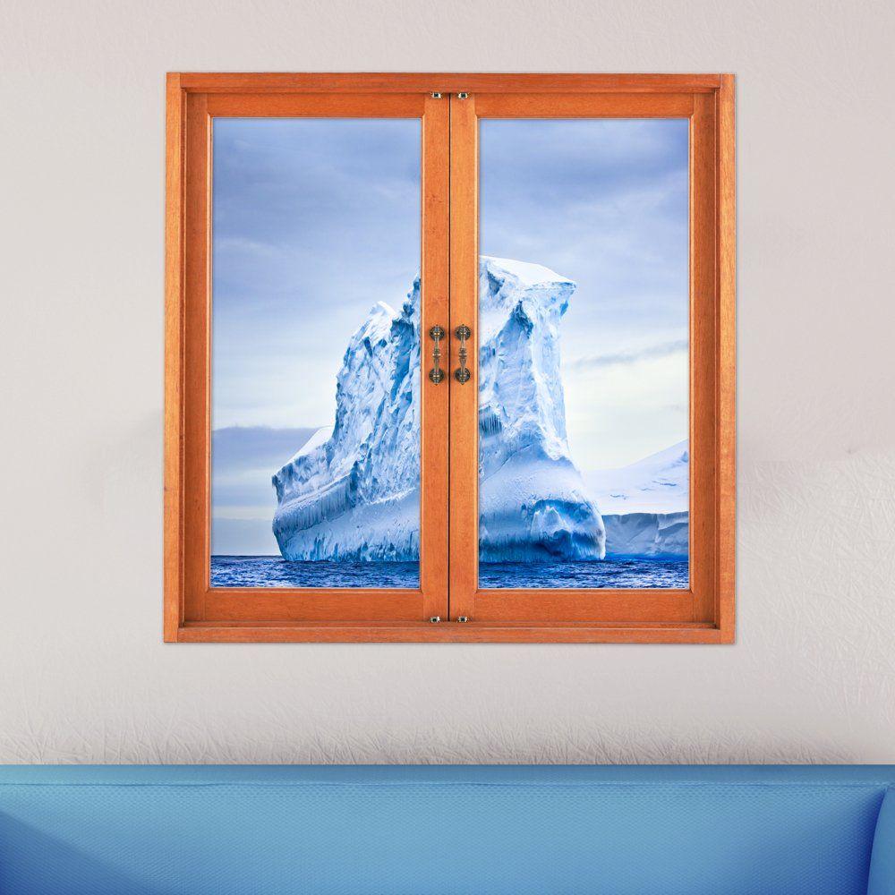 Artificial Window Iceberg 3d Artificial Window View 3d Wall Decals Frigid Barrier
