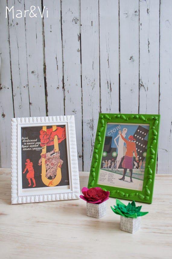 Cómo hacer marcos de fotos vintage baratos | Idees | Pinterest ...