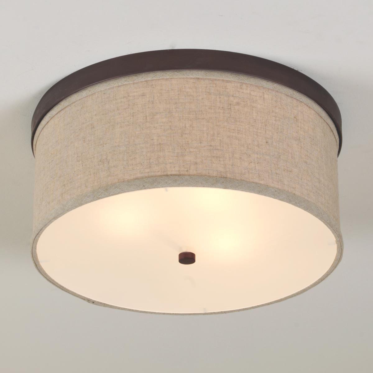 Springfield Linen Shade Ceiling Light | Clair's Lighting ...