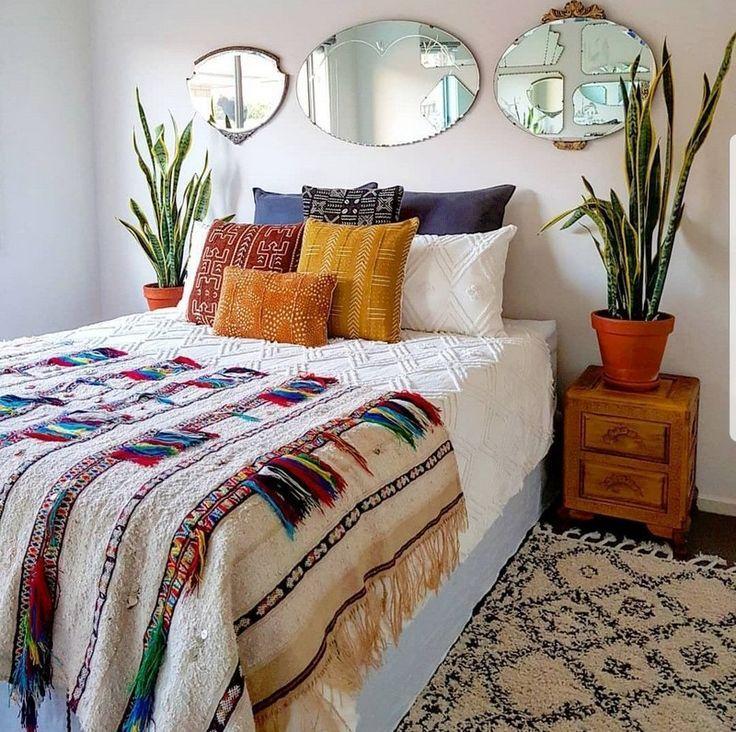 Photo of Böhmische Schlafzimmer Dekor und Bett Design-Ideen – Dekoration Styles