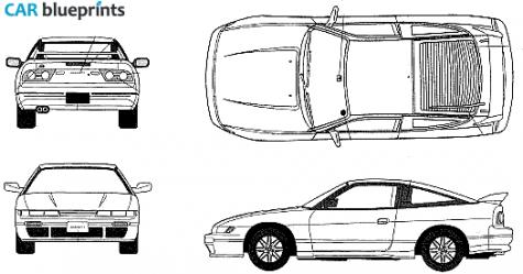 Nissan Silvia Rps13 Sileighty Blueprints Vector Drawings Clipart And Pdf Templates Nissan Nissan Silvia Blueprints
