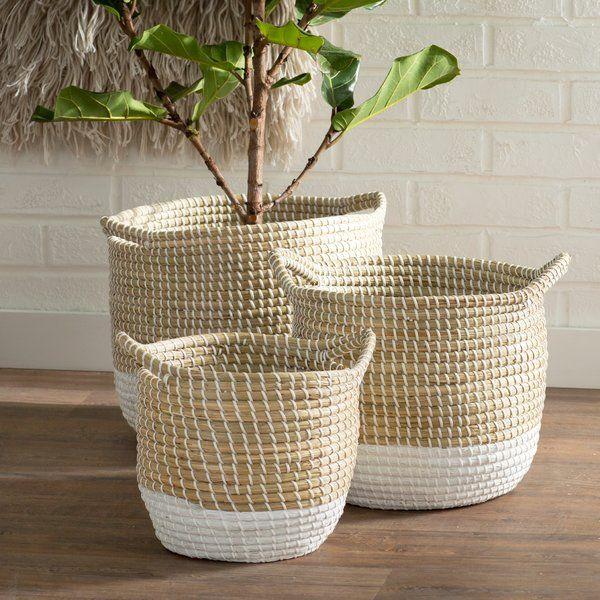 3 Piece Seagrass Basket Set Basket Sets Basket Seagrass Basket
