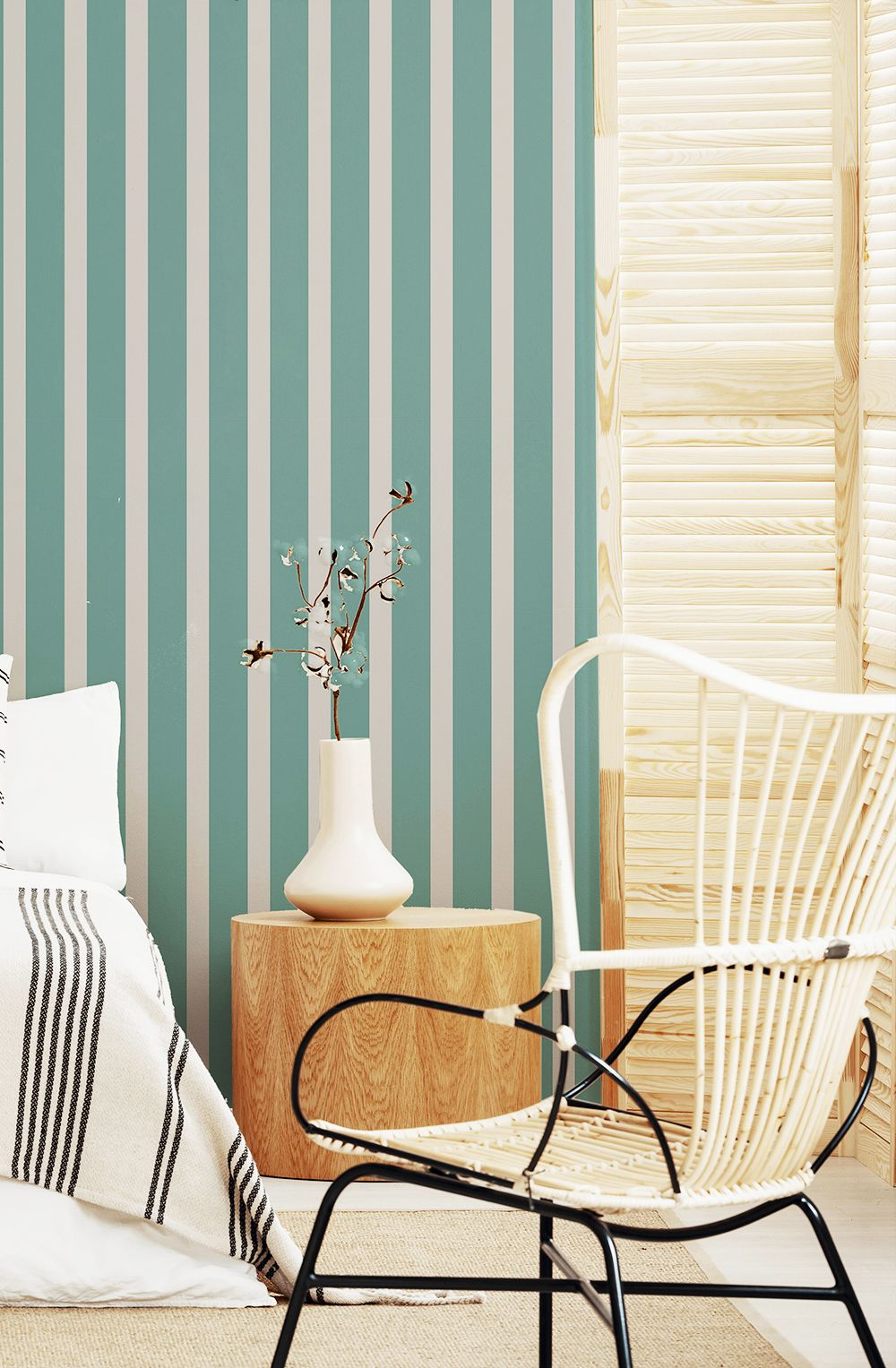 Green And Grey Vertical Peel And Stick Removable Wallpaper 20 2 Removable Wallpaper Green And Grey Amazing Spaces