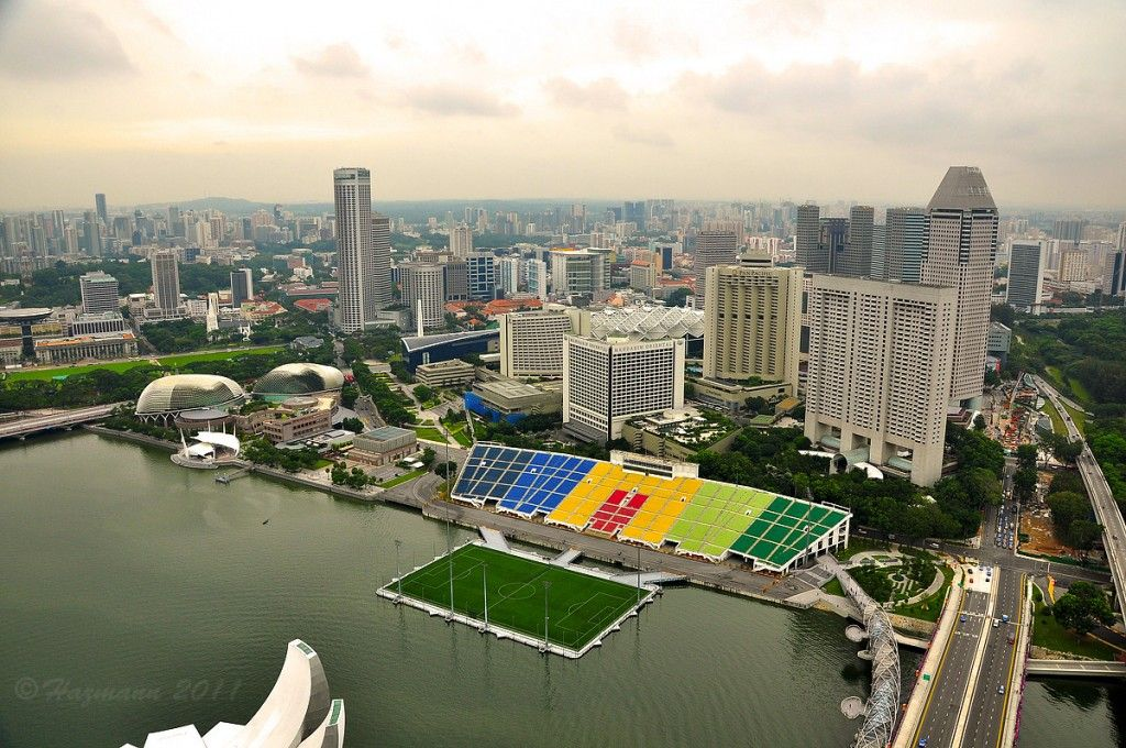 Floating Field In Singapore Floating Stadium Singapore