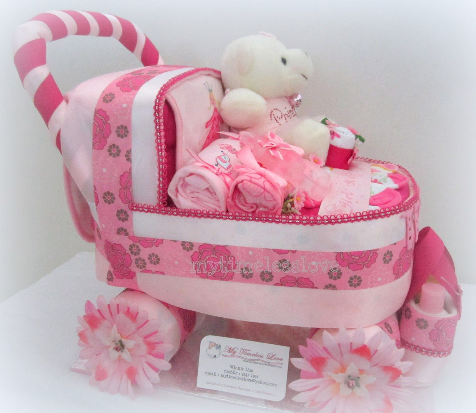 Baby Carriage Diaper Cake Diaper Cake Instructions