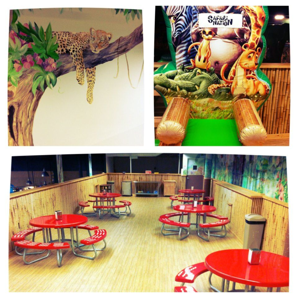 Birthday party rooms to choose from at Safari Nation Greensboro