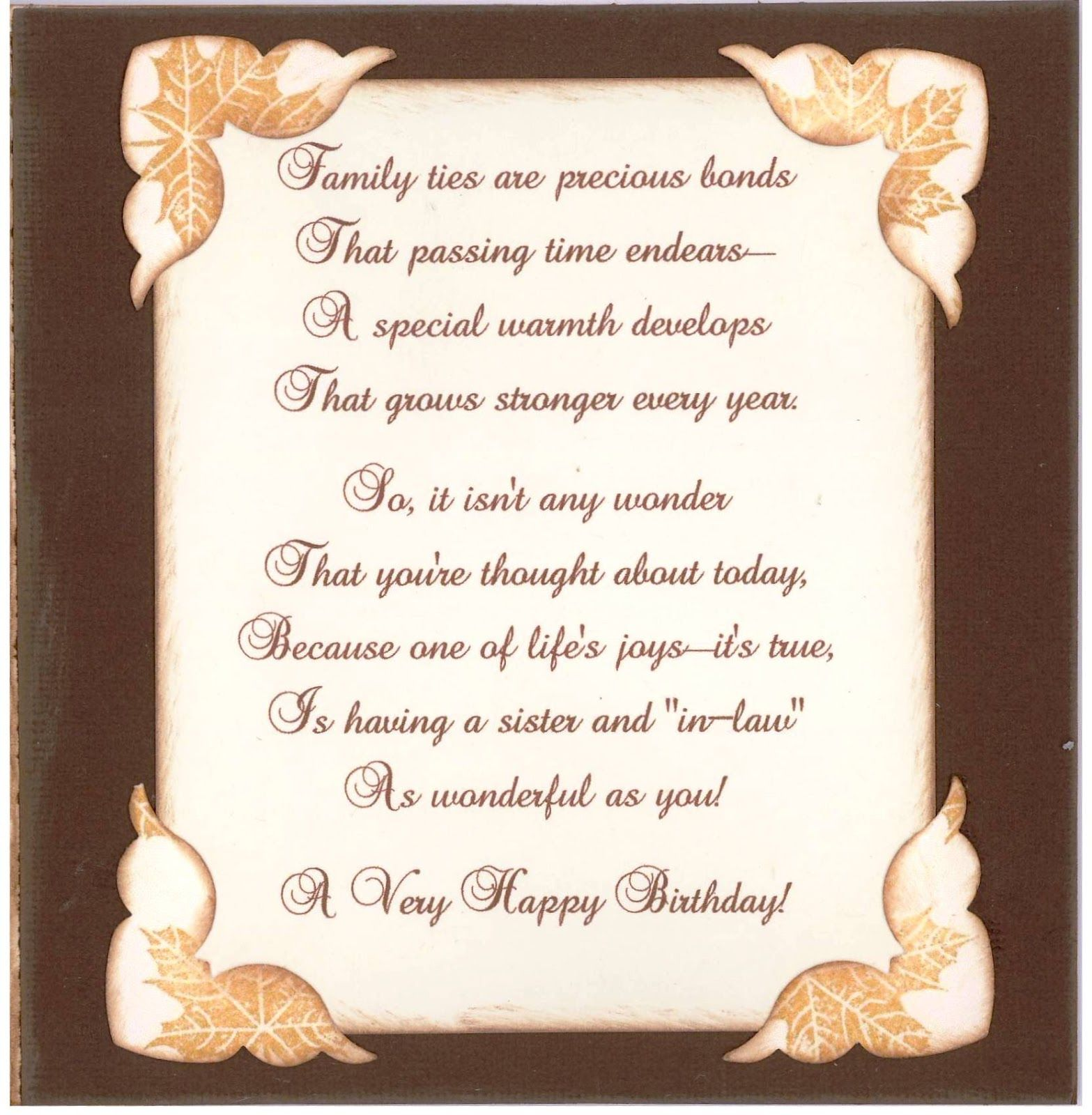 Happy Birthday For Inside Of A Card
