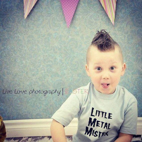 12 month blue baby toddler tee Punk rocker / by LittleMetalMisster, $15.00
