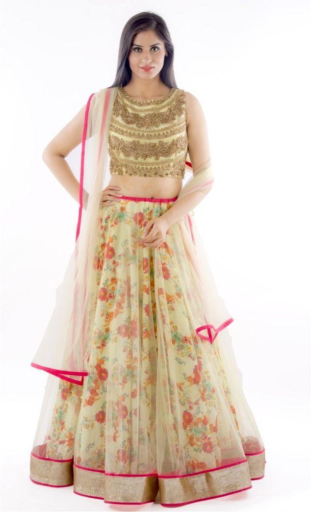 664dd36dd7d10b Party Wear Floral Lehenga Choli Designs | Fashion | Floral lehenga ...