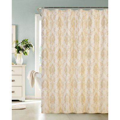 Dainty Home Vienna Shower Curtain Champagne - VIENSCCH