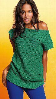 Crochet tunic sweater
