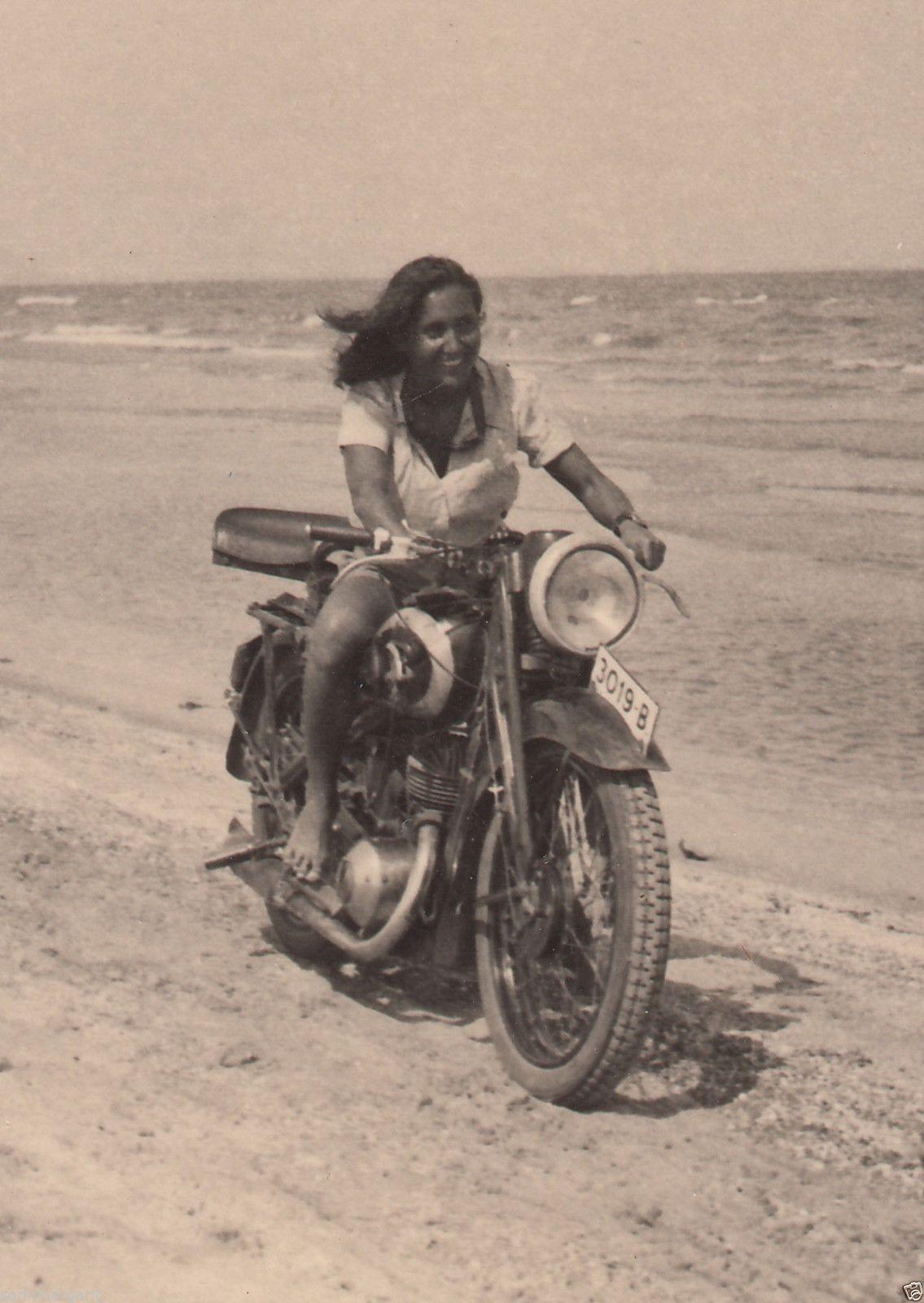 womenwhoride: Romania Lady Riding Motorcycle on Mamaia Beach Constanta  Resourt Ride Road – found photo via ebay