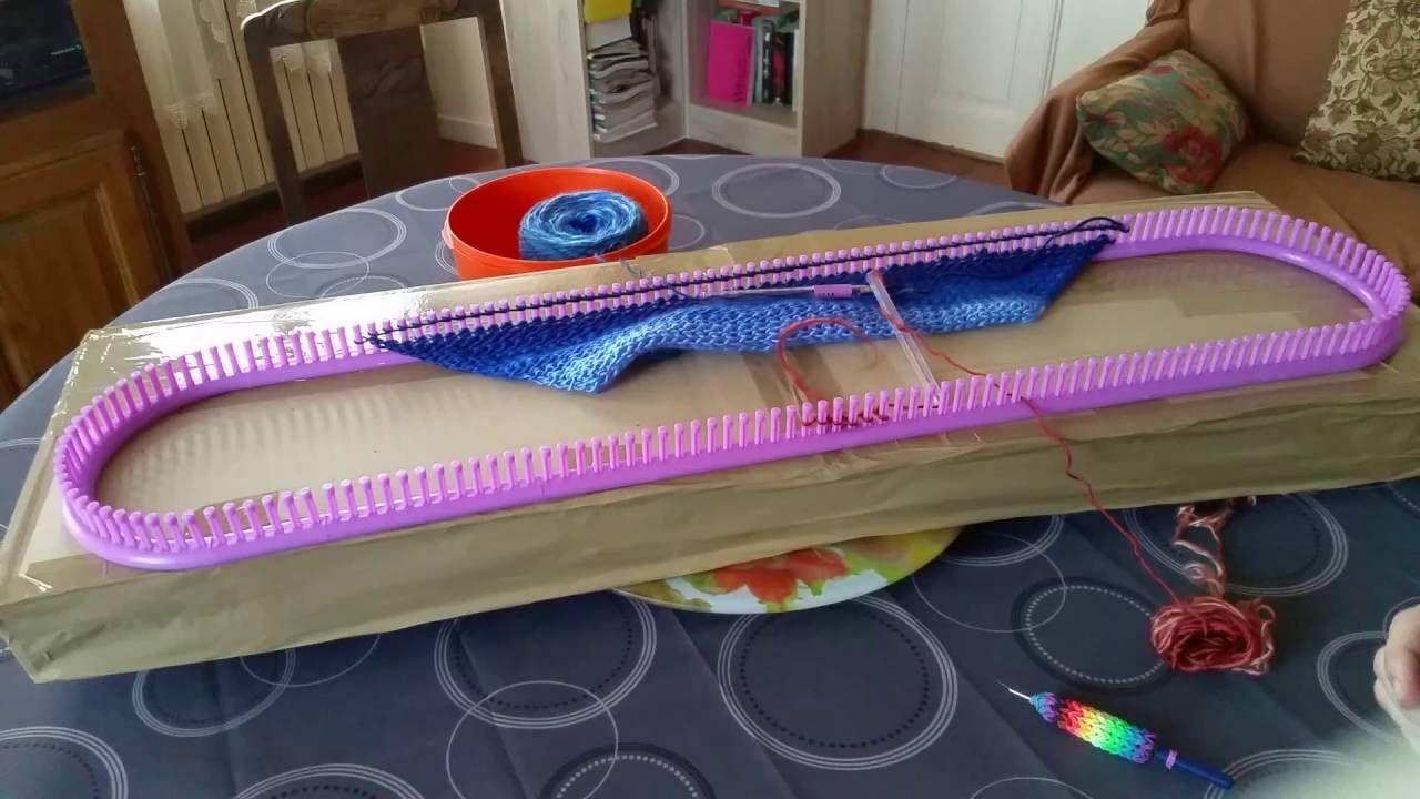 Tricotin g ant buttinette ch le triangulaire stickrahmen loom knitting pinterest tricotin - Comment faire du tricotin ...