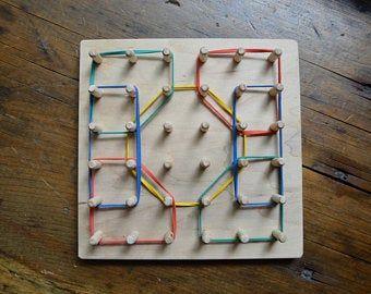 Photo of Geschenkbox für Kleinkinder / Montessori-Schraubbrett / Hammer-Set / Geotabla / Kleinkind / Montessori-Spielzeug / Kleinkindspielzeug