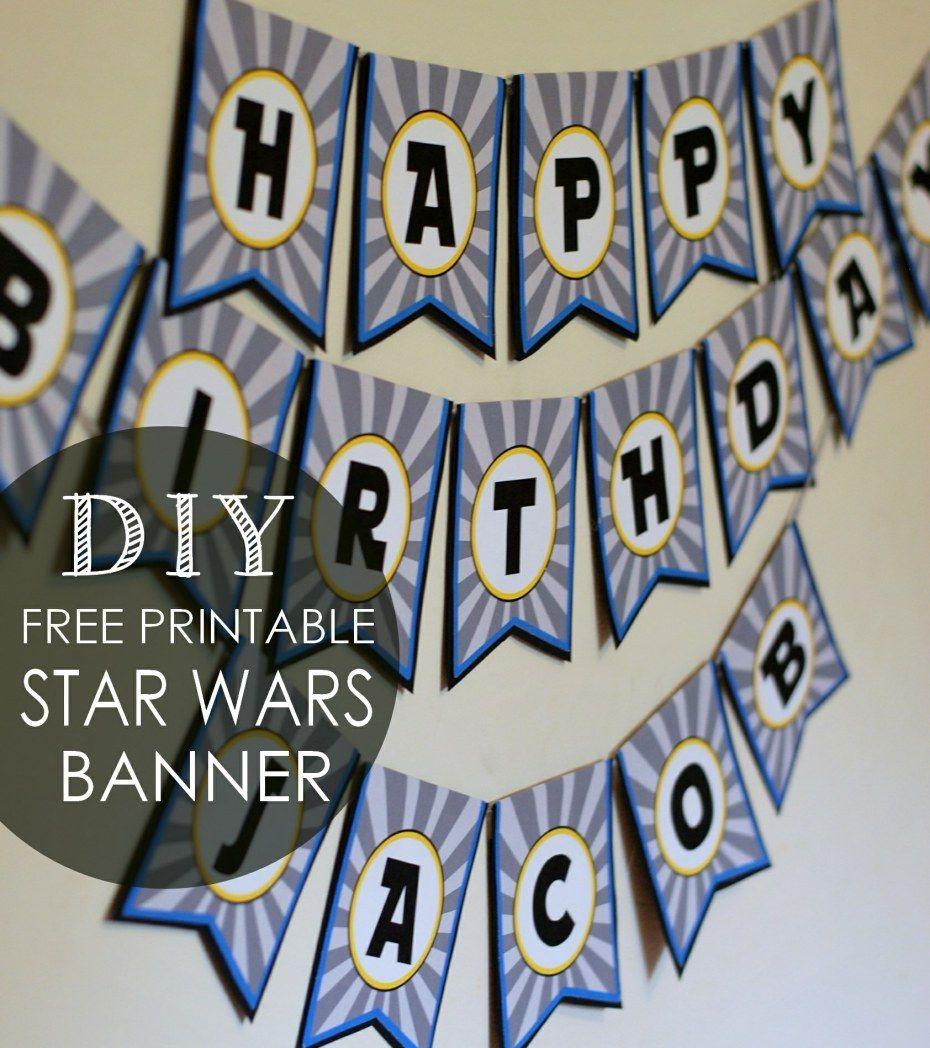 Diy star wars birthday banner free printables posh