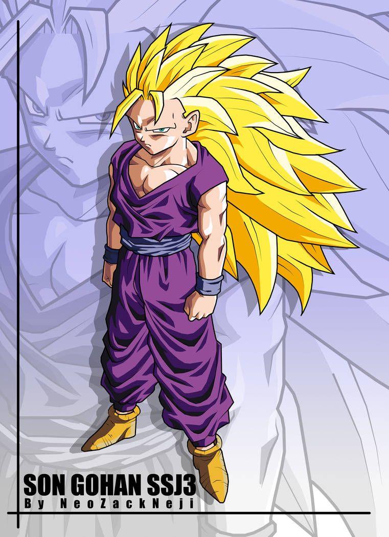 Son Gohan Cell Saga Ssj3 By Neozackneji On Deviantart Anime Dragon Ball Super Dragon Ball Super Art Anime Dragon Ball
