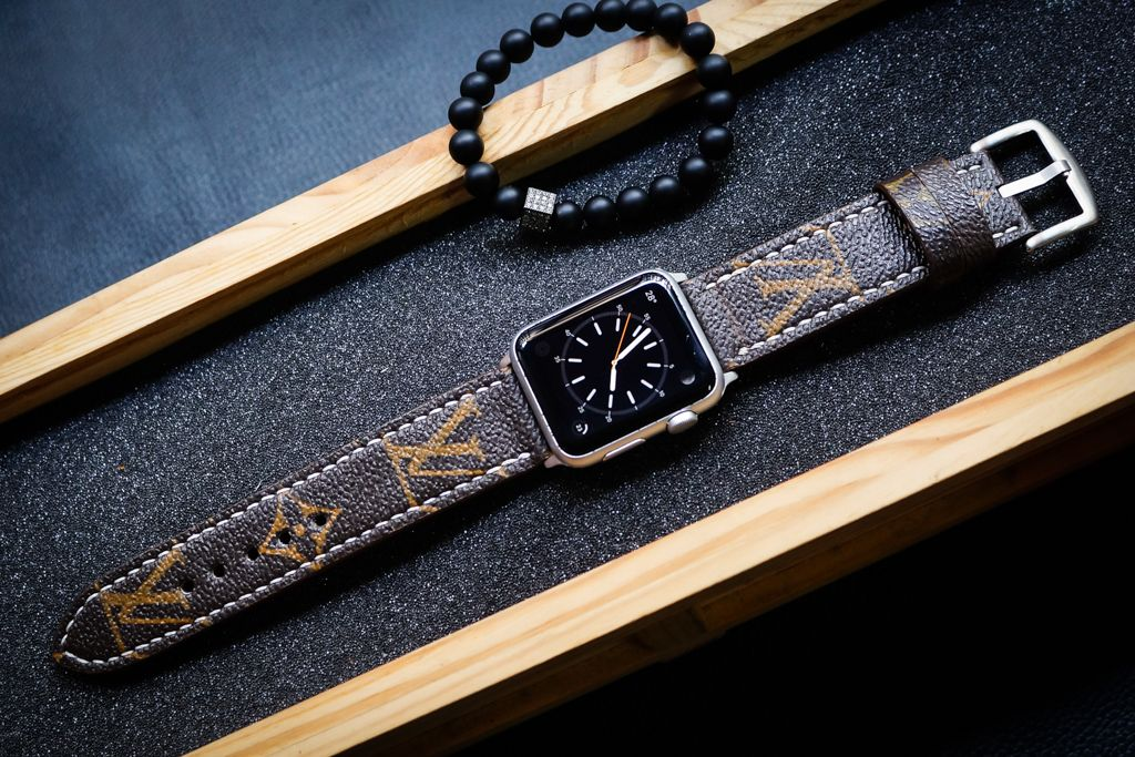 Pin On Louis Vuitton Authentic Leather Watch Strap For Apple Watches