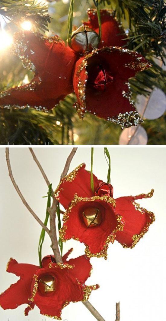 Egg Carton Holiday Amaryllis Ornament Click For 28 Easy Diy