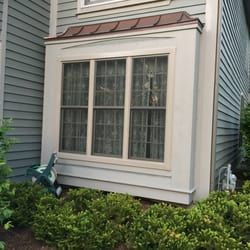 Marvin Integrity Box Bay Window With Copper Roof In Aurora Il Installed By Ultimate Home Solutions Live Near Windows Marvin Windows And Doors Bay Window