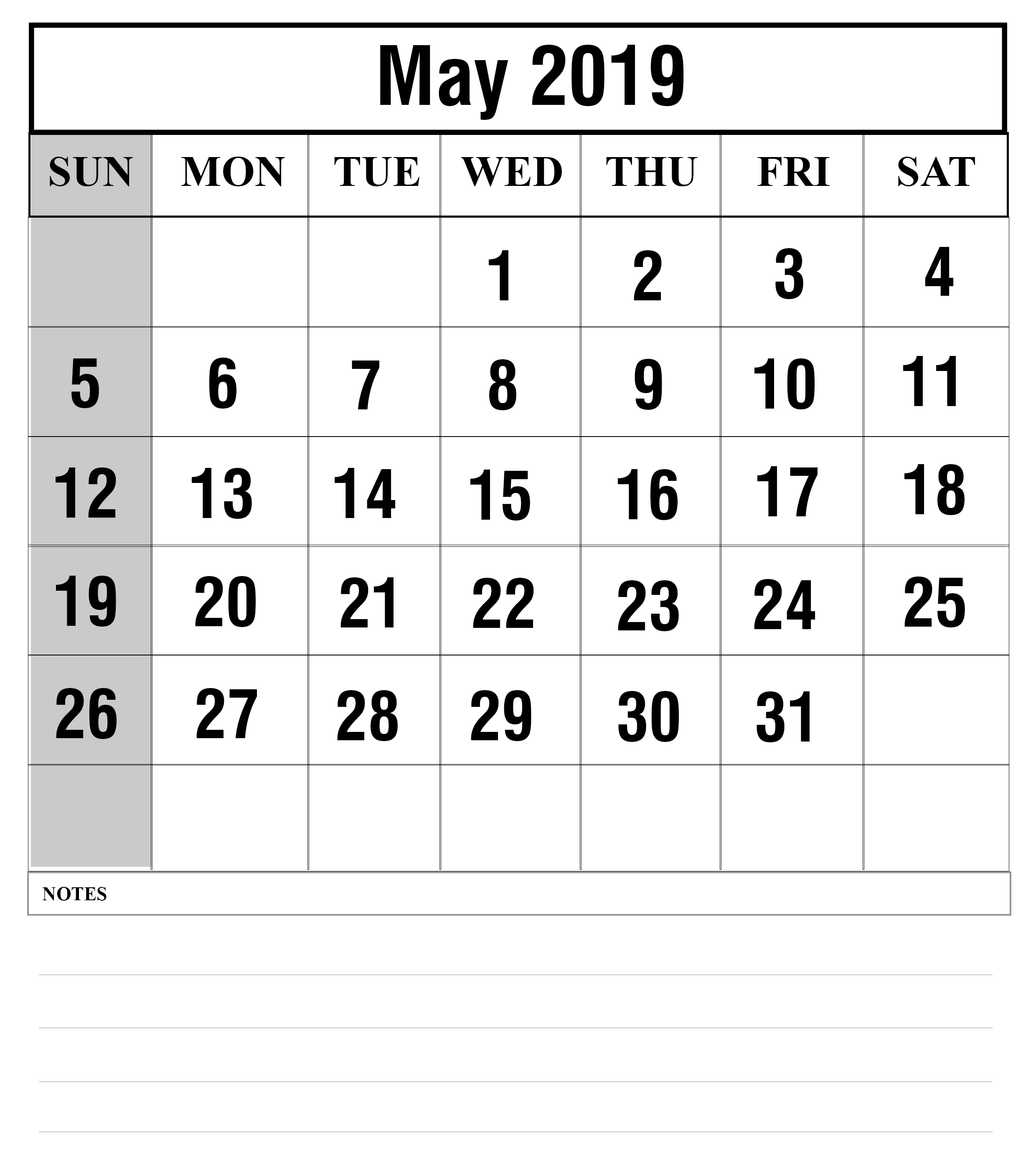 image about Printable Wiki titled How Toward Routine Your Thirty day period With Could possibly 2019 Printable Calendar