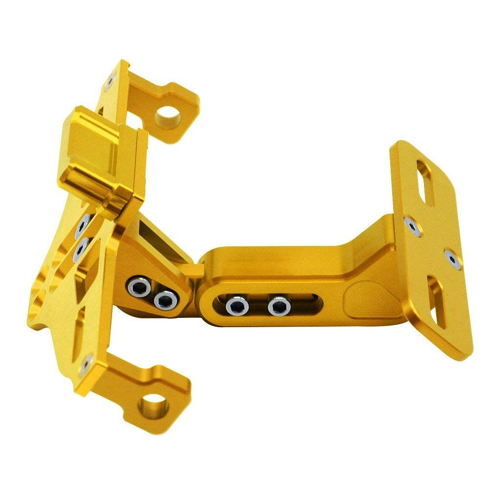 Motorcycle Accessories Universal Fender Eliminator License Plate Bracket Holder Ho Tidy Tail with Aluminium LED Light for Yamaha FZ09 FZ07 YZF R1 R3 R25 for Honda XADV Gold