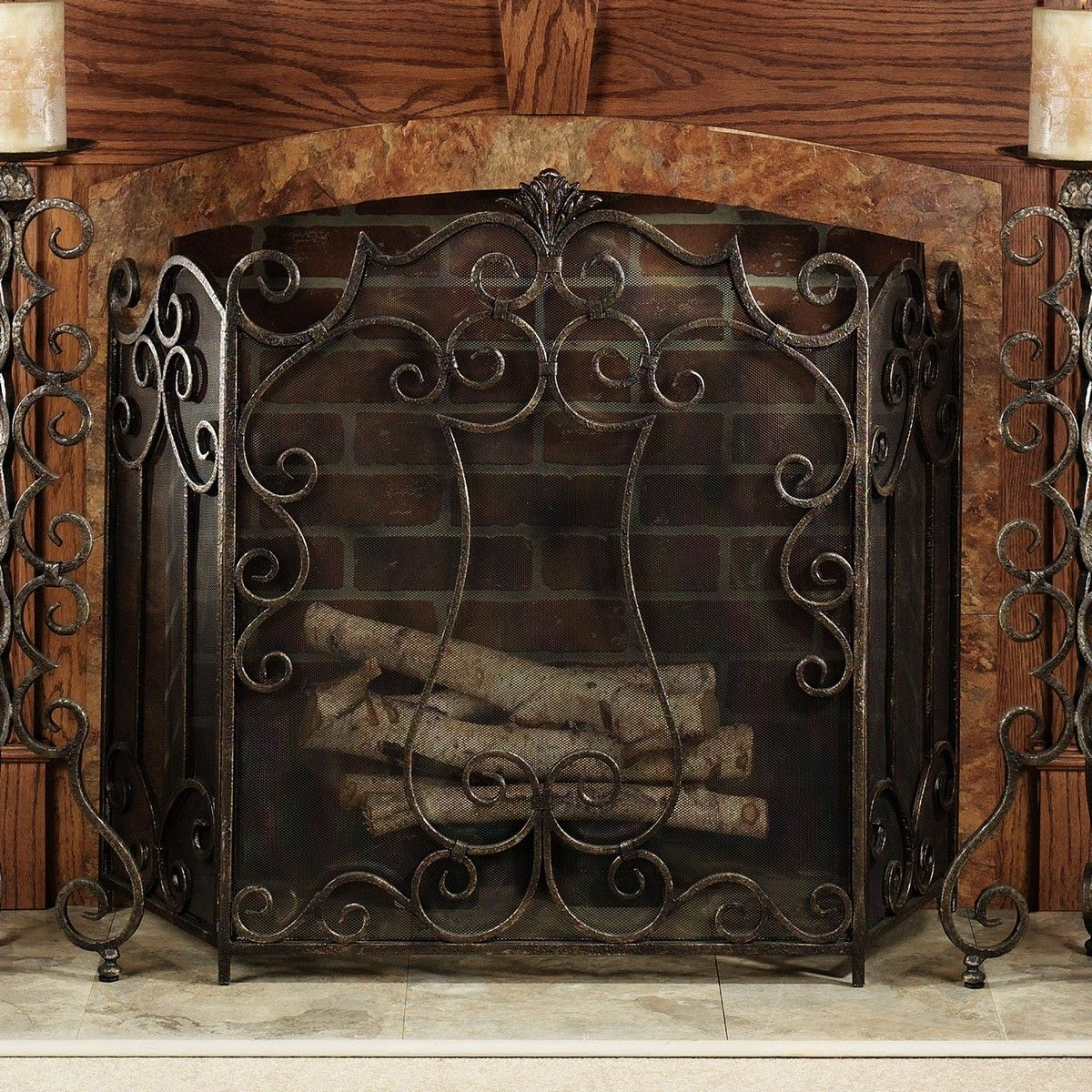 western fireplace screen