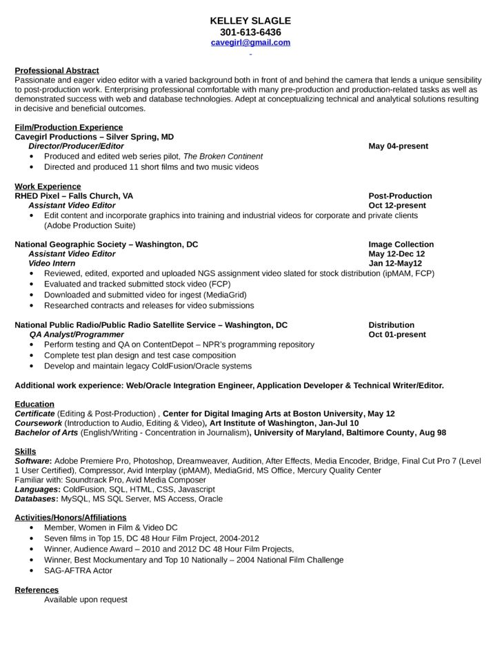 Great Editor Cv Template Picture science editor sample