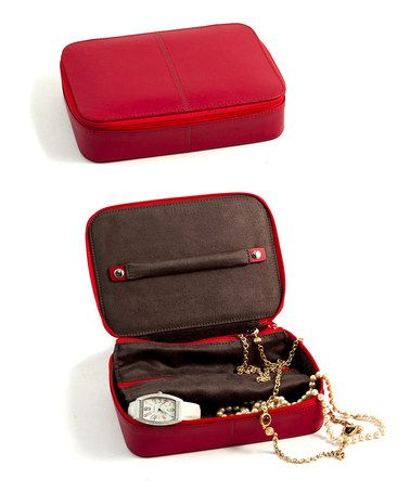 This Red Leather Jewelry Box is perfect zulilyfinds Display