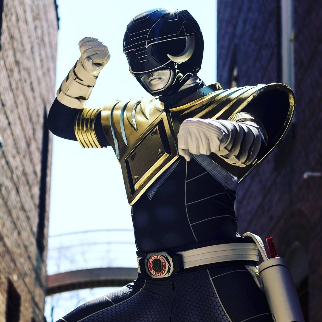 Armored Black Power Ranger With Dragon Shield Ranger Armor Power Rangers Cosplay Power Rangers Trini tore apart lord drakkon's dimension traveling zord, the black dragon, and now wears its skin as armor. power ranger with dragon shield