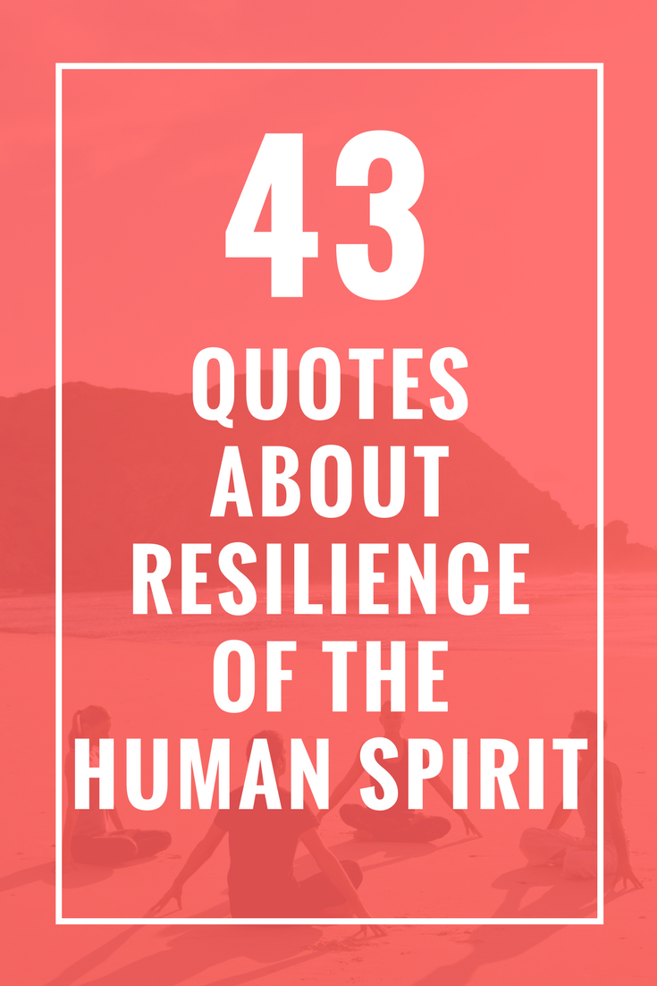 43 Quotes About Resilience Of The Human Spirit Quotes Missing