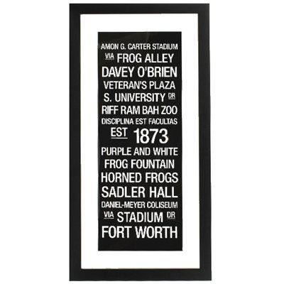 Tcu Horned Frogs 19 X 34 Framed Subway College Town Wall Art Horned Frogs Tcu Horned Frogs Tcu
