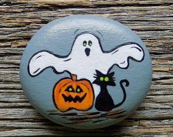 Halloween rock   Etsy