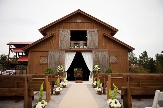 Barn Wedding Curtains Closed For Ceremony And Open Up For Reception Inside With Images Barn Wedding Venue