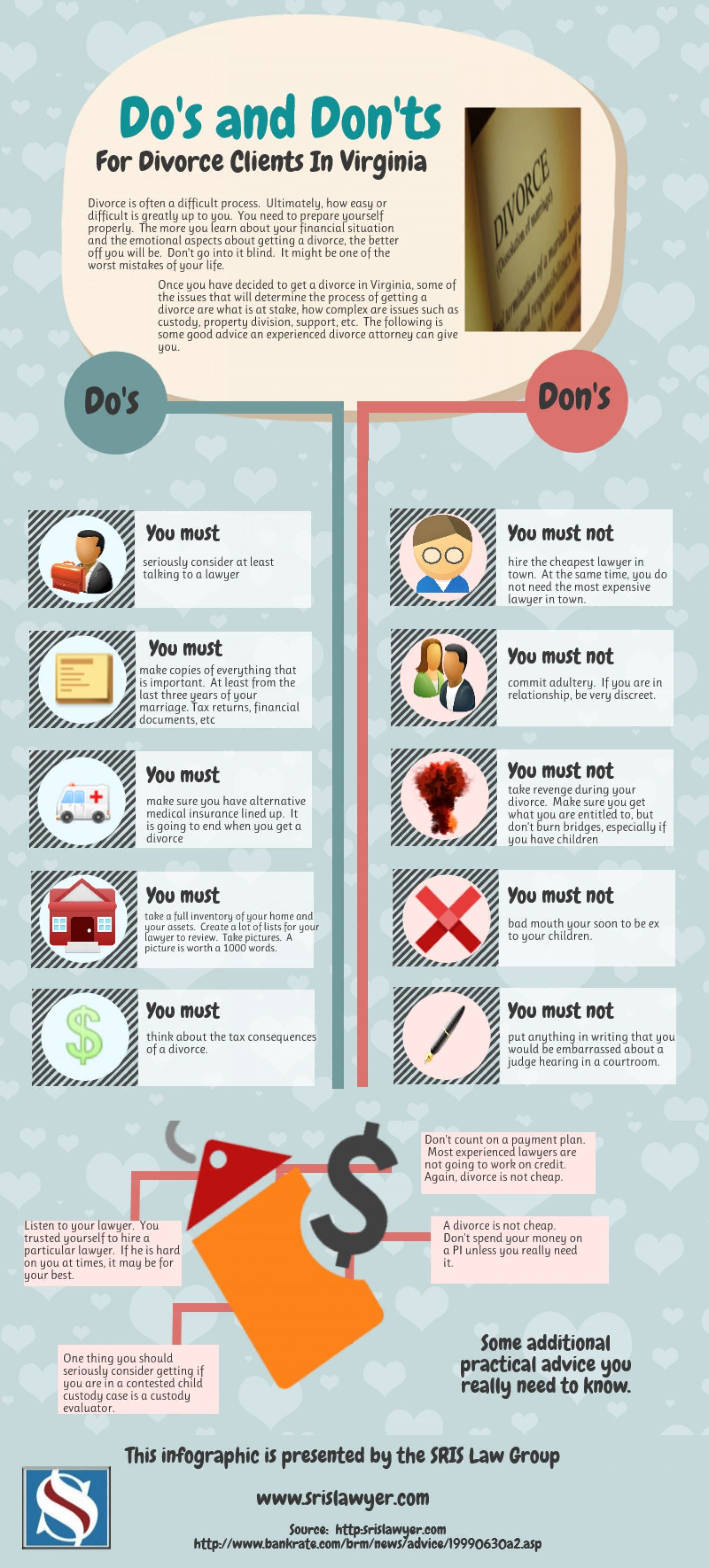 Divorce virginia lawyer good advice about the process dos and don divorce virginia lawyer good advice about the process dos and donts infographic solutioingenieria Gallery