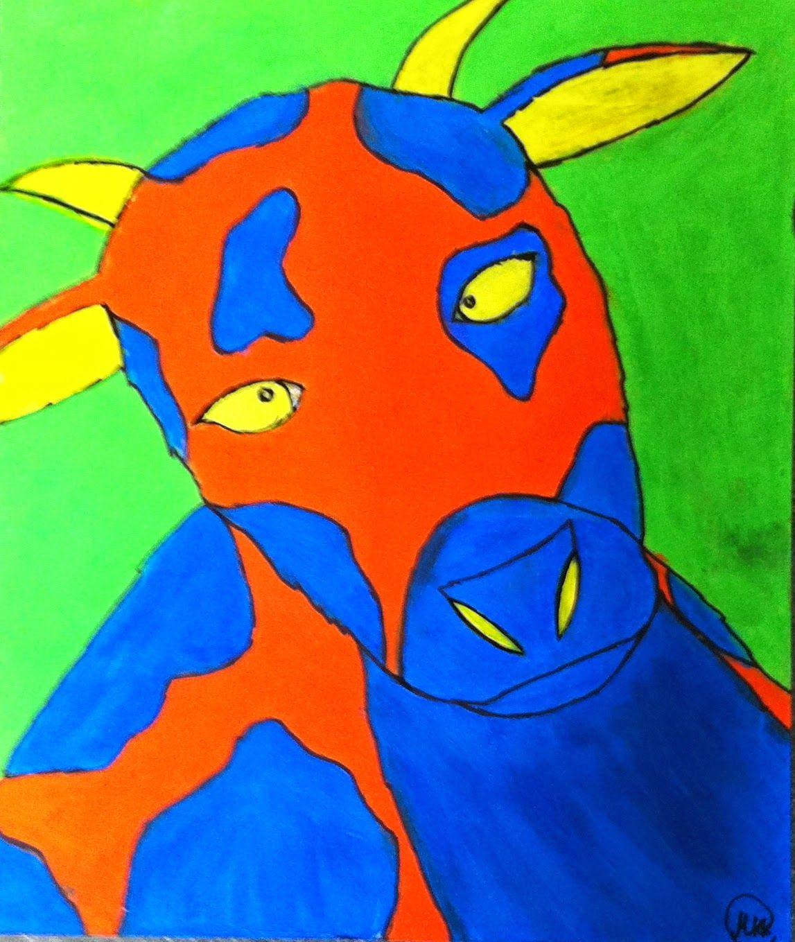 Meet The Creative Part of Me : Køer i harmoniske farveklange - lavet af 5. årgang