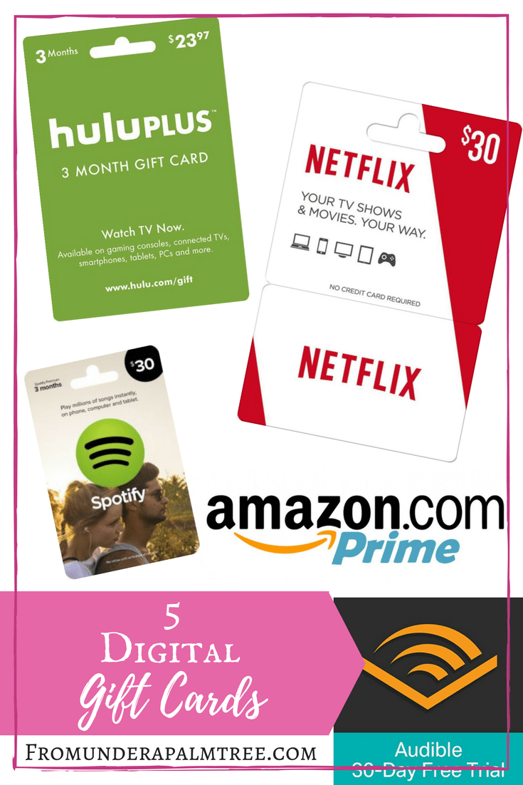 5 Digital Gift Cards From Under A Palm Tree Digital Gifts Digital Gift Card Gift Card