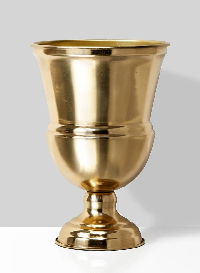 10 1 4in Gold Urn Vase In 2020 Urn Vase Small Urns Vase