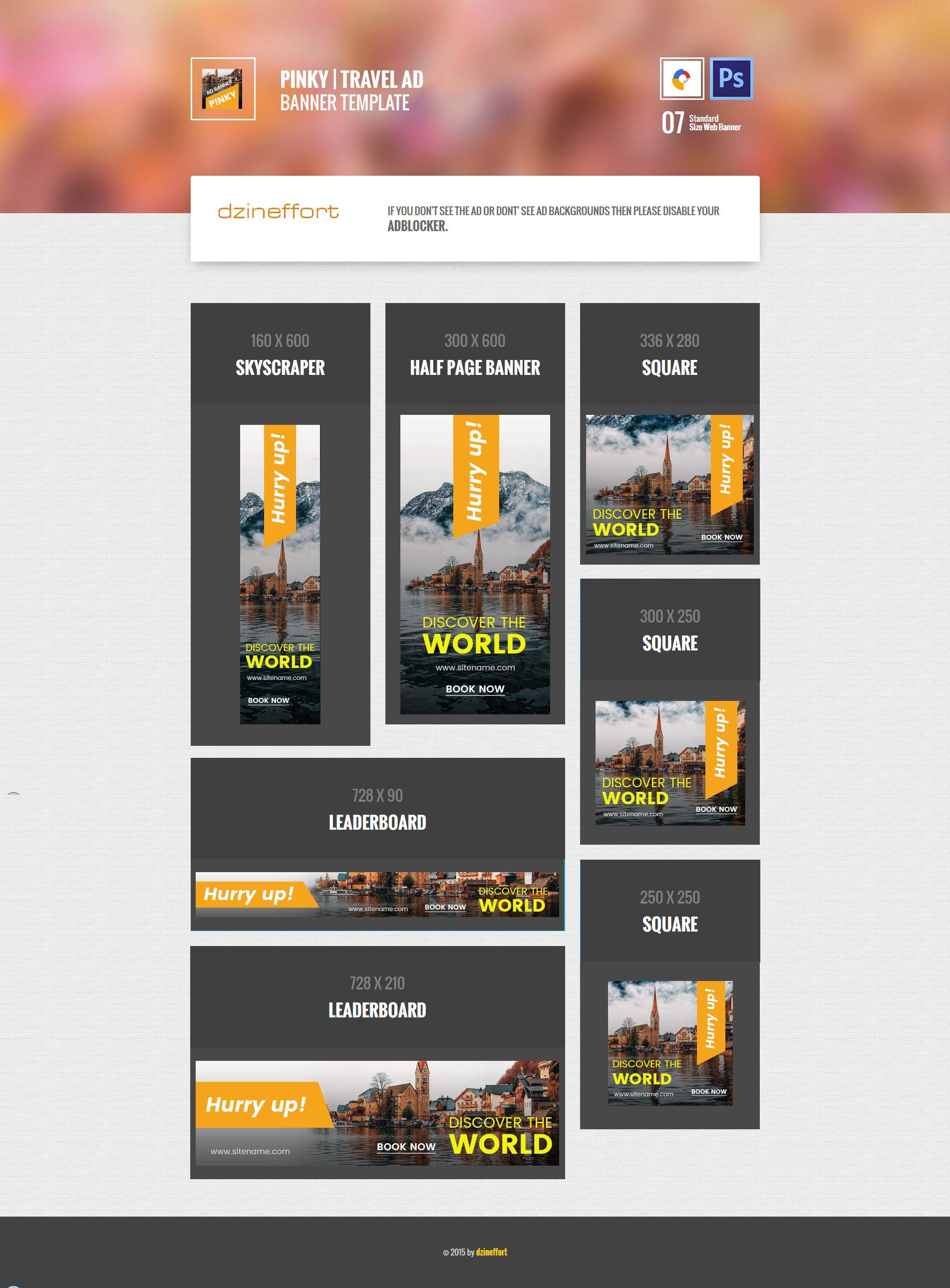 Lobby   Travel HTML 5 Google Banner   ad banner   Pinterest ...